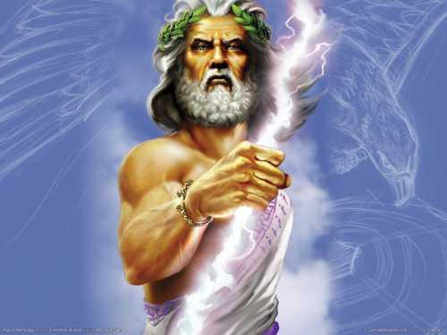 Cronide Zeus, dieu de ciel lumineux ou Jupiter