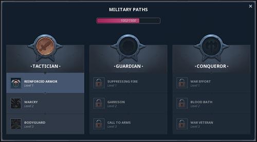 Northgard, Voies militaires