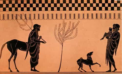 Chiron, Pelée et Achille enfant