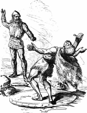 Thor tue le Jötunn Hrungnir